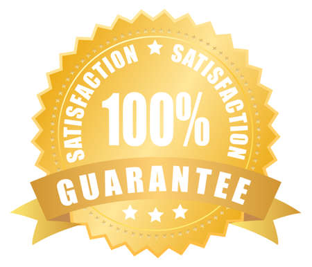 percent sign: Satisfaction guarantee label