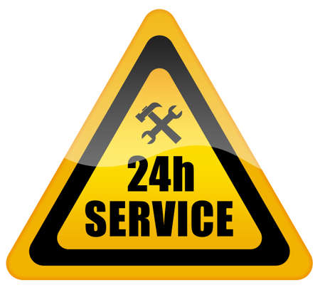 24 service sign photo