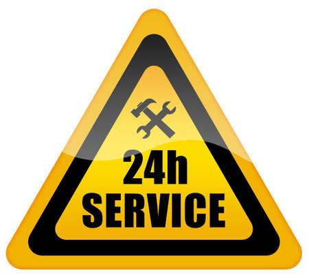 24 service teken Stockfoto