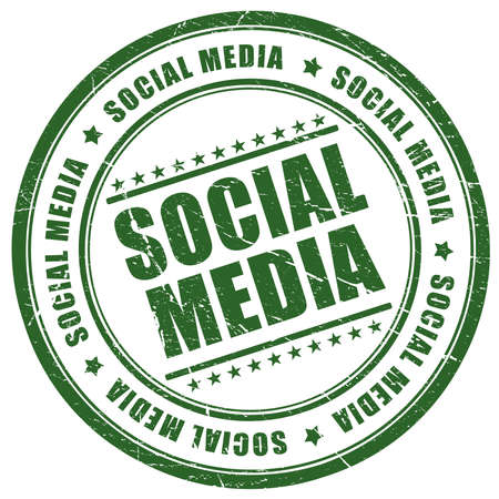 media logo: Social media stamp