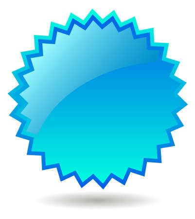price tag: Splash blue star Stock Photo