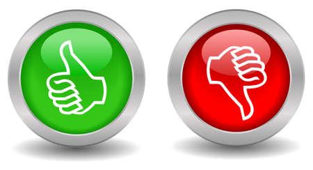 シンボル: ボタンを親指します。