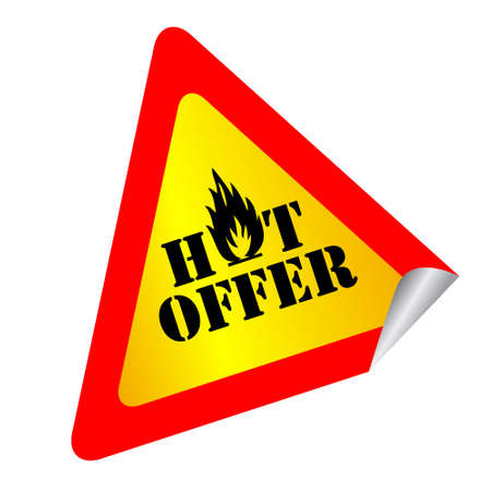 Hot offer label Stock Photo - 8885308