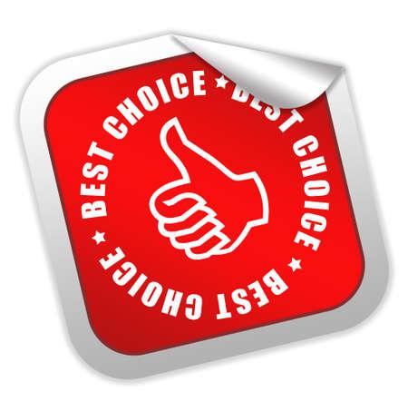 Best choice label Stock Photo - 9156430