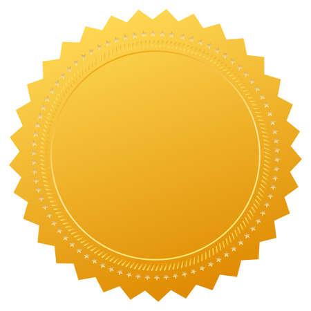 gold seal: Blank guarantee certificate