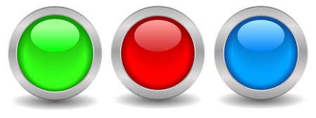 Shiny web buttons photo