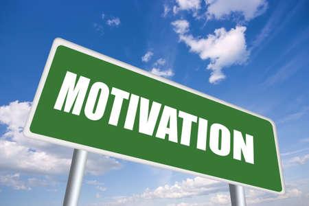 letrero: Signo de motivación