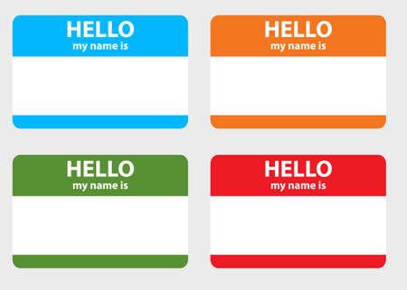 Hello my name card photo