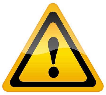 note of exclamation: Se�al de advertencia de peligro