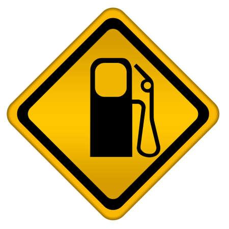 tanque de combustible: Signo de gasolinera Foto de archivo