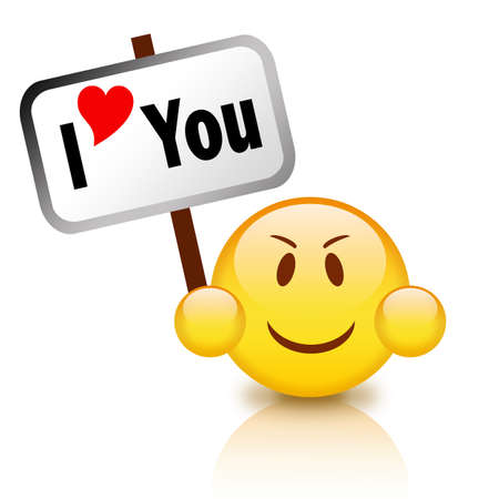 notify: I love you icon Stock Photo