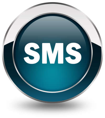 logo informatique: Bouton de SMS Banque d'images