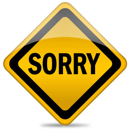 Sorry sign Stock Photo - 9156453