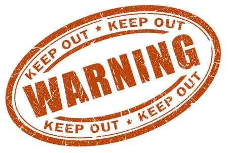 Warning stamp Stock Photo - 9156463