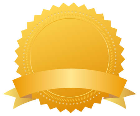 Blank award medal with ribbon photo