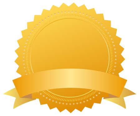 premi: Medal award vuota con nastro Archivio Fotografico