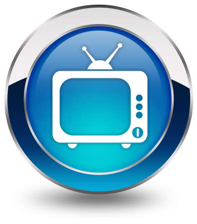 watching television: Tv icon Stock Photo