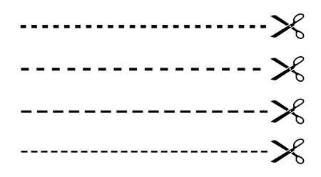 cortes: L�nea de corte con tijeras