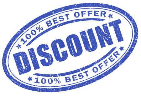 best offer: Discount blue stamp Stock Photo