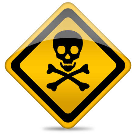 no entry: Danger skull sign