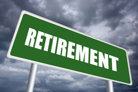 clip board: Retirement sign Stock Photo