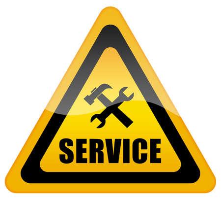 computer service: Service Support Zeichen