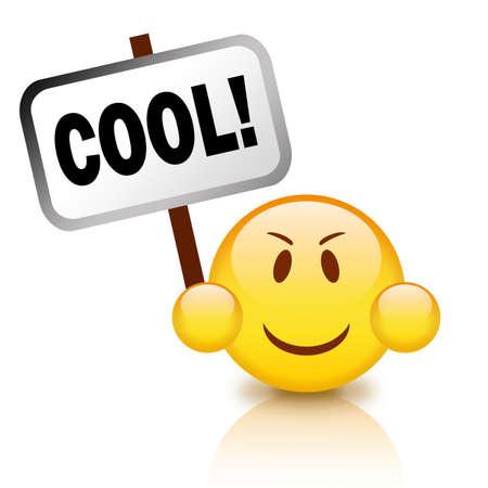 Cooles emoticon Standard-Bild