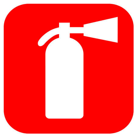 foam safe: Fire extinguisher icon