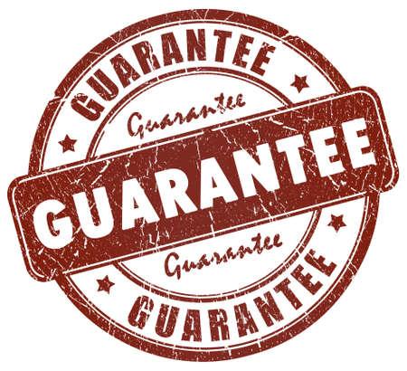 assurance: Guarantee stamp