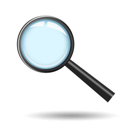 seeking an answer: Magnifying glass illustration