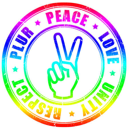 Plur hippy symbol Stock Photo - 9396128