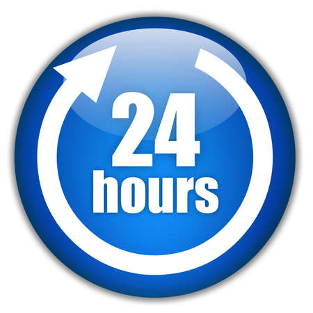 Twenty four hours service logo photo