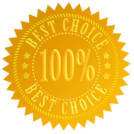 Best choice guarantee seal Stock Photo - 9549305