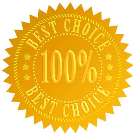 guarantee seal: Best choice guarantee seal Stock Photo