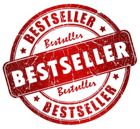 vendedores: Sello de bestseller Foto de archivo