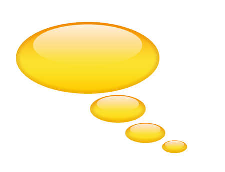 Shiny speech bubble Stock Photo - 9549285