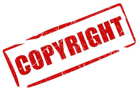 Auteursrecht stempel Stockfoto
