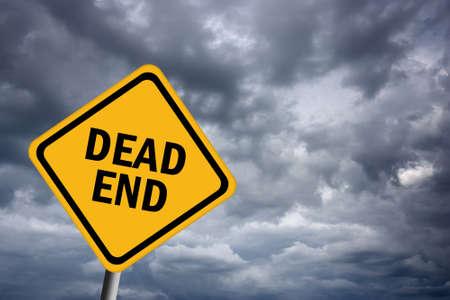 the end: Sackgasse Stra�enschild
