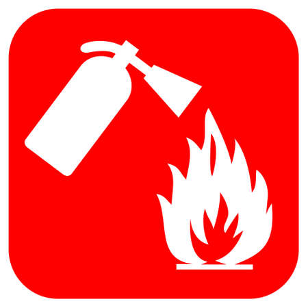 extinguisher: Fire safety logo