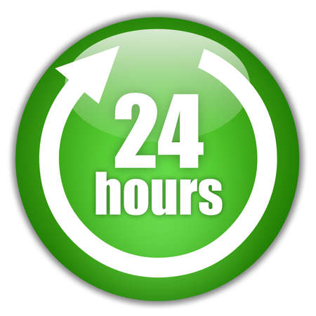 24 hours service green logo photo