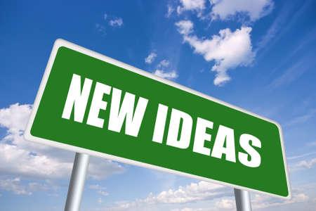 ideas brillantes: Signo de carretera de ideas nuevas
