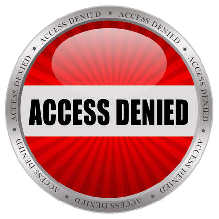 incorrect: Access denied icon