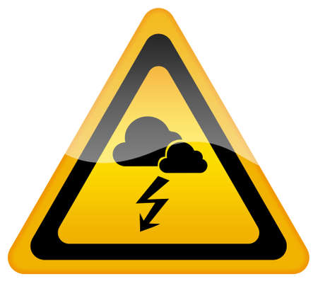 Storm warning sign Stock Photo - 9549282
