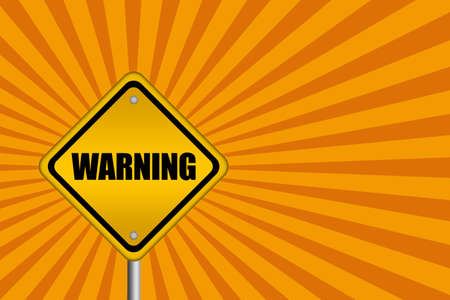 abstract danger: Warning sign