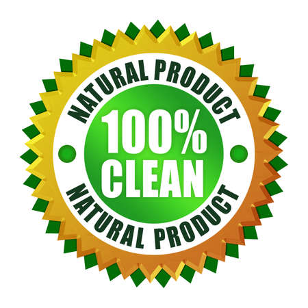 Natural clean product icon Stock Photo - 9718592