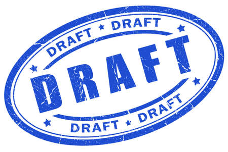 project deadline: Draft stamp