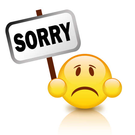 Sorry emoticon Stock Photo - 9718593