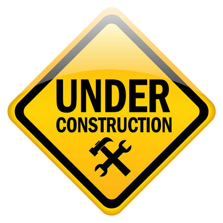 Under construction sign Stock Photo - 9718598