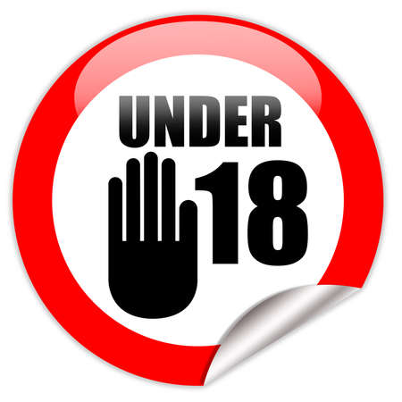 18 year old: Under eighteen sign Stock Photo