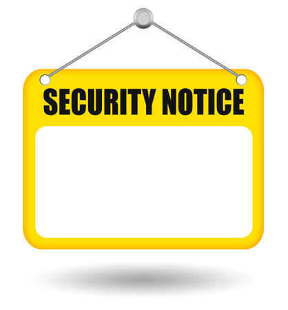 Security notice blank board Stock Photo - 9849790